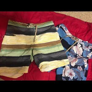 Patagonia mens (35-in.waist) swim trunks (2 pair)